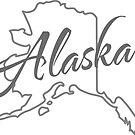 Alaska State | Einfaches Design in Grau mit moderner Typografie von PraiseQuotes