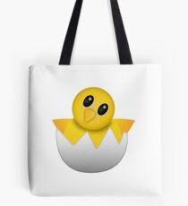 Brütendes Babyküken Emoji Tote Bag