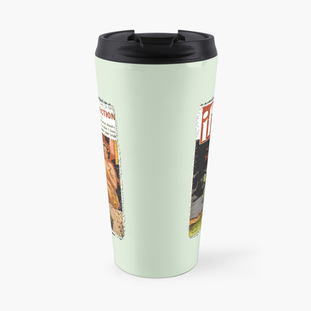 Invasion Of The Little Green Men (Aliens and Spaceship and Surprised Sunbather) Travel Mug