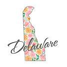 Delaware State | Blumenmuster mit bunten Rosen von PraiseQuotes