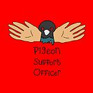 'Pigeon Support Officer' by Hannah Stringer (Stringer Things) by stringerthings
