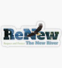 ReNew the New River Transparent Sticker
