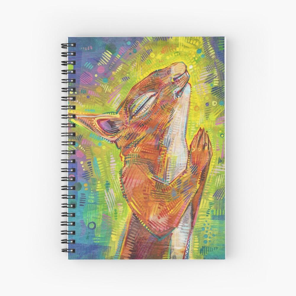 Praying squirrel painting - 2014 Spiral Notebook