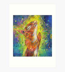 Praying squirrel painting - 2014 Art Print
