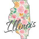 Illinois State | Blumenmuster mit Rosen von PraiseQuotes