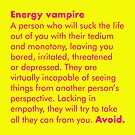 ENERGY VAMPIRE DEFINITION - WHAT WE DO IN THE SHADOWS by Clifford Hayes