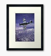 Mustang Fighter Patrols the Skies Above the Clouds Framed Print