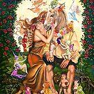 BOTTOM AND TITANIA by Judy Mastrangelo