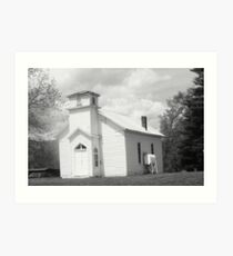 old timey church Art Print