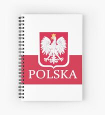 Patriotic Polish Polska Flag Spiral Notebook