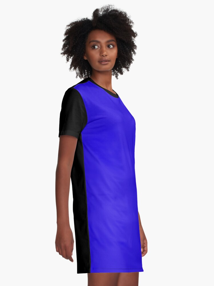 Alternate view of Ultramarine Blue Flat Color Graphic T-Shirt Dress