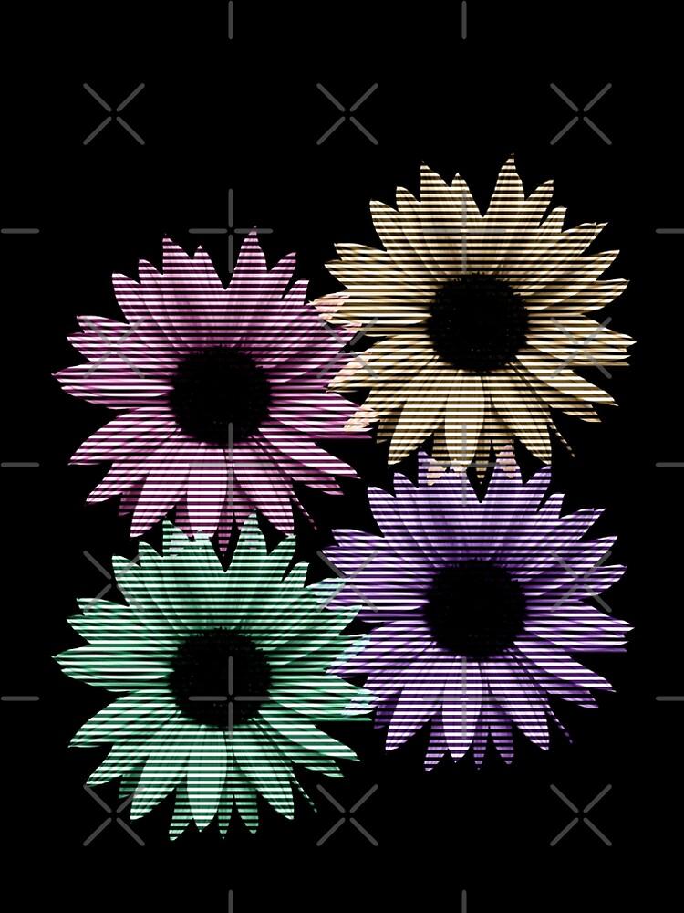 bunte Blumen, Streifen, gestreift, Muster von rhnaturestyles