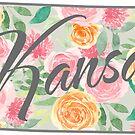 Kansas State | Blumenmuster mit Rosen von PraiseQuotes