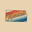 Kopie von Illinois State | Bunter Retro Entwurf der 70er Jahre von PraiseQuotes