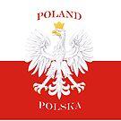 Retro Polish Polska Flag by PolishArt