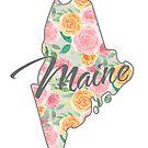 Maine State | Blumenmuster mit Rosen von PraiseQuotes