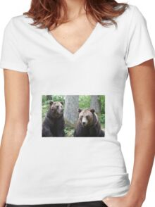 Bears Women's Fitted V-Neck T-Shirt
