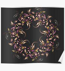Ribbon Wreath Poster