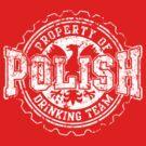 Vintage Polish Drinking Team Bottle Cap by PolishArt