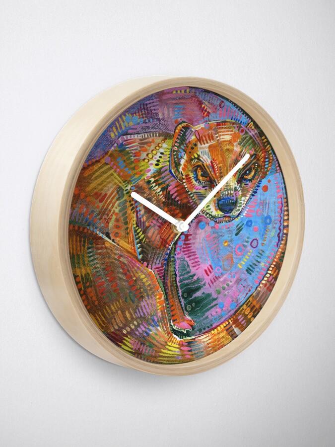 Alternate view of Superhero painting - 2015 Clock