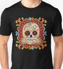 Camiseta ajustada Día colorido de la camisa muerta del cráneo del azúcar