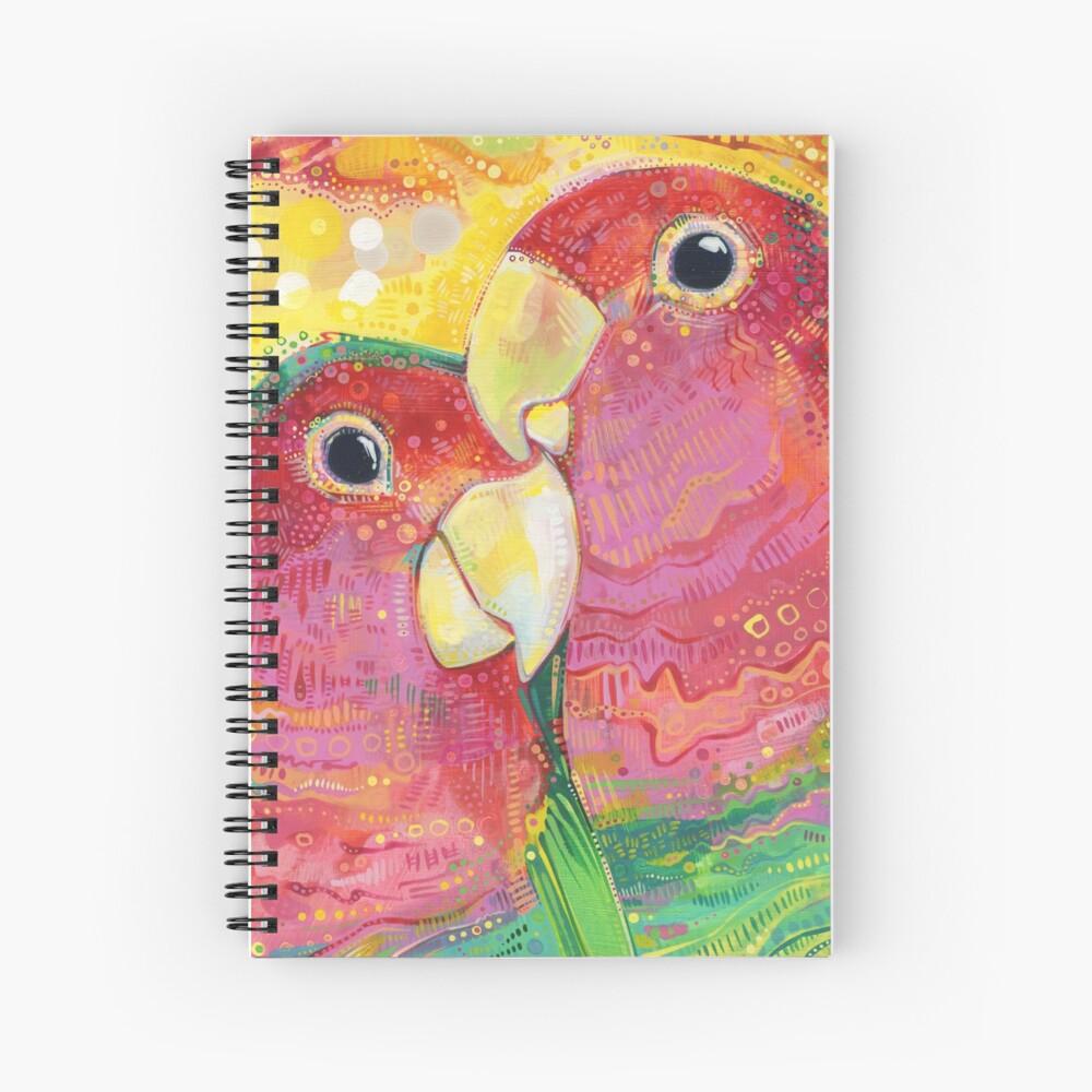 Peach-faced lovebird painting - 2012 Spiral Notebook