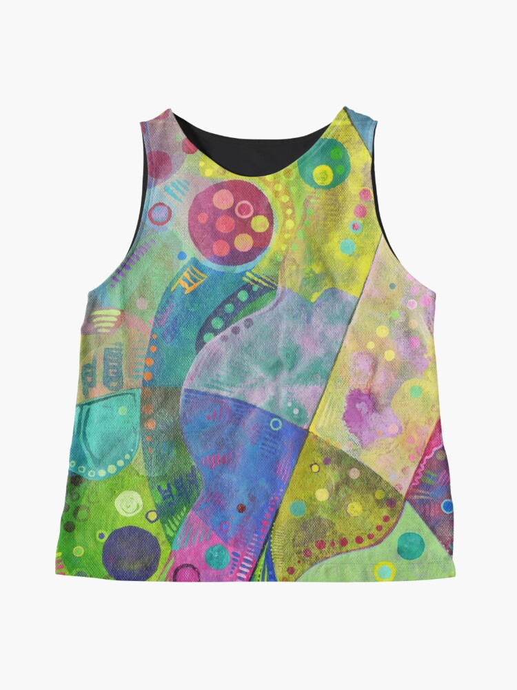 Alternate view of Abstract intersection painting - 2014 Sleeveless Top