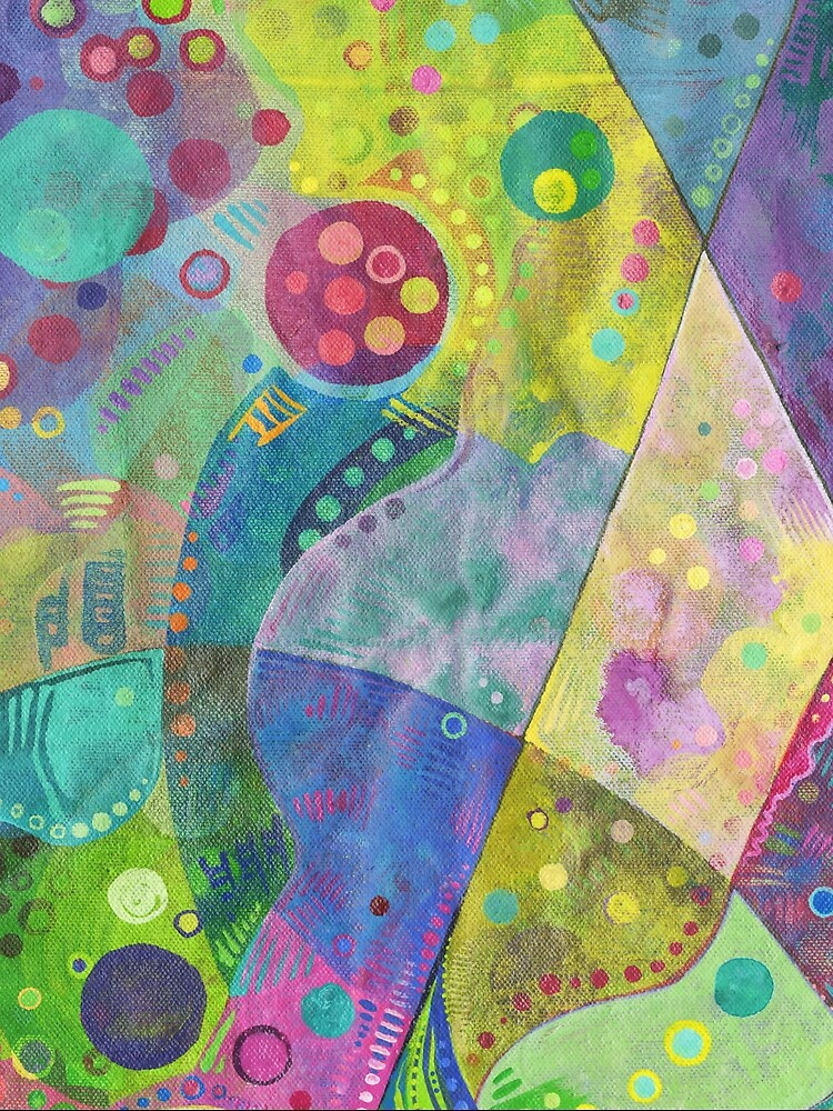 Abstract intersection painting - 2014 by gwennpaints