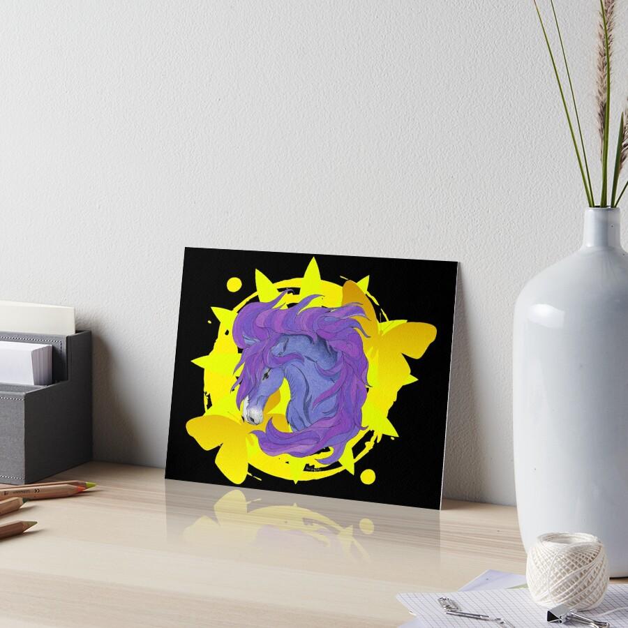 Wild Horse Purple Art Board Print