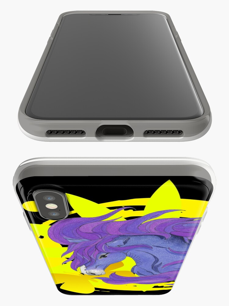 Alternate view of Wild Horse Purple iPhone Case & Cover