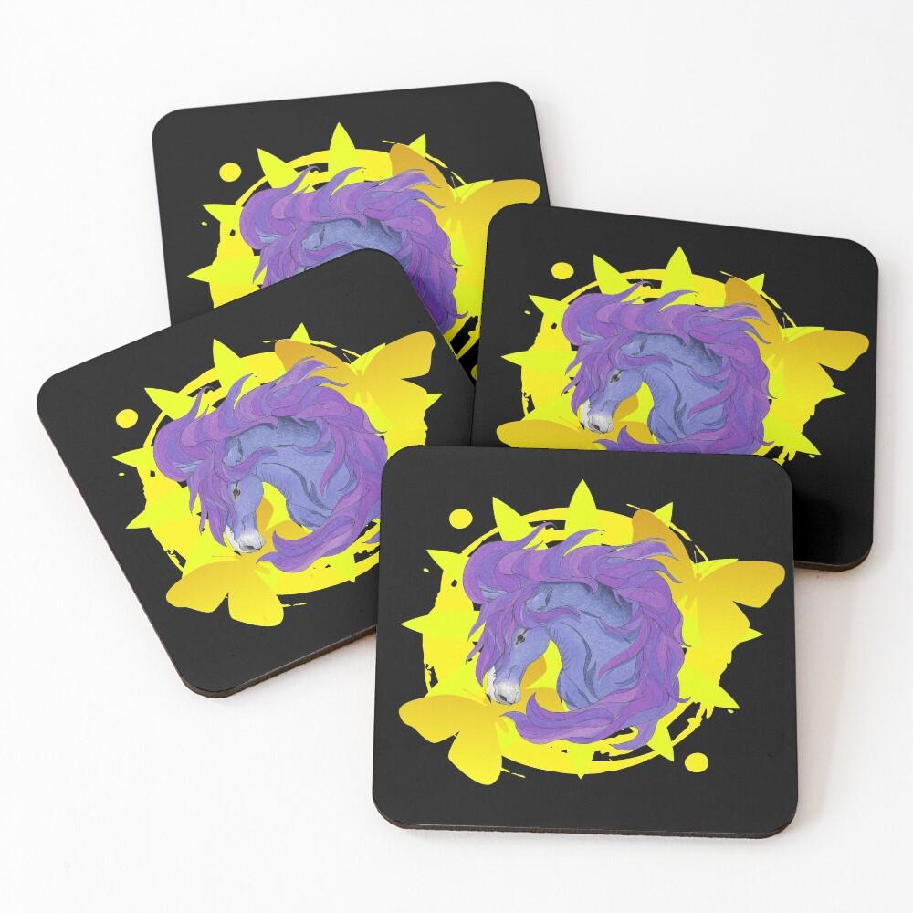 Wild Horse Purple Coasters (Set of 4)