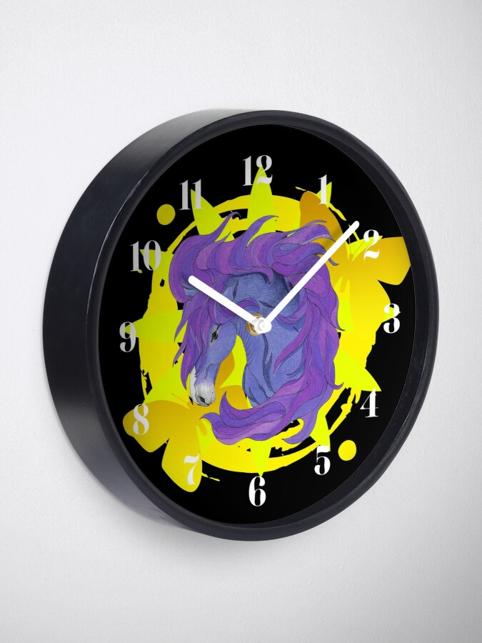 Alternate view of Wild Horse Purple Clock