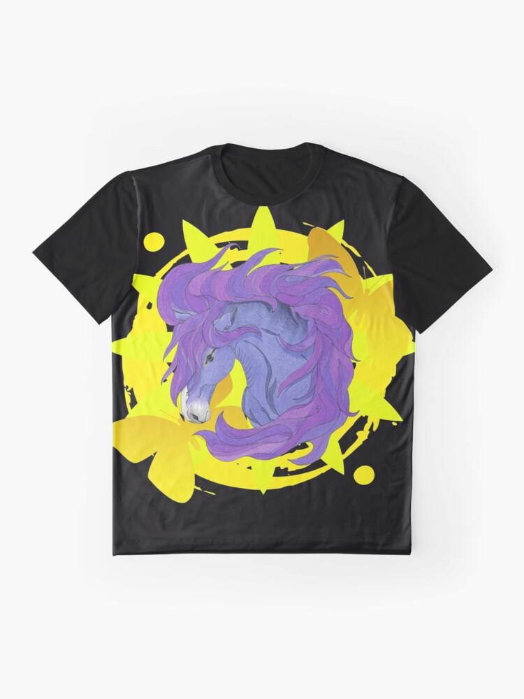 Alternate view of Wild Horse Purple Graphic T-Shirt