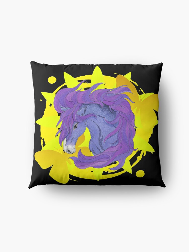Alternate view of Wild Horse Purple Floor Pillow