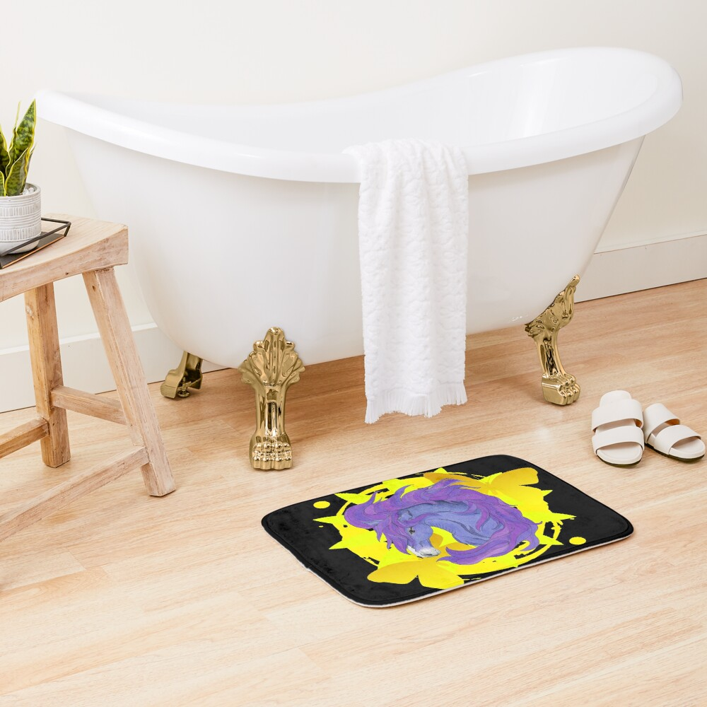 Wild Horse Purple Bath Mat