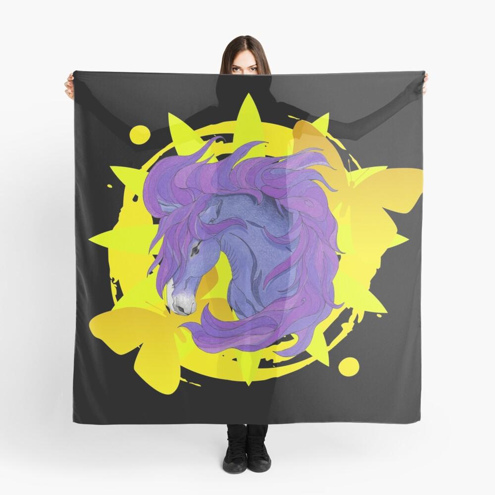 Wild Horse Purple Scarf