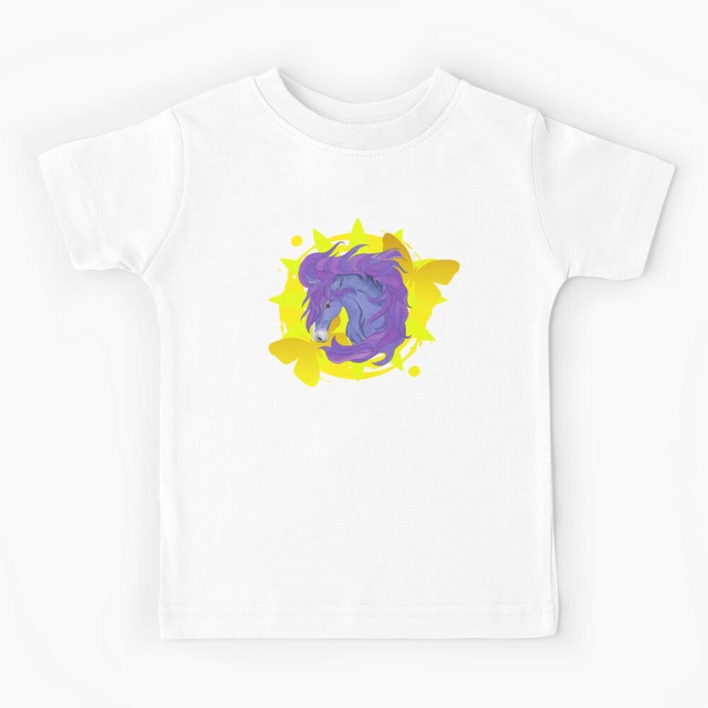 Wild Horse Purple Kids T-Shirt