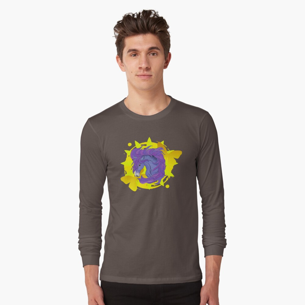 Wild Horse Purple Long Sleeve T-Shirt