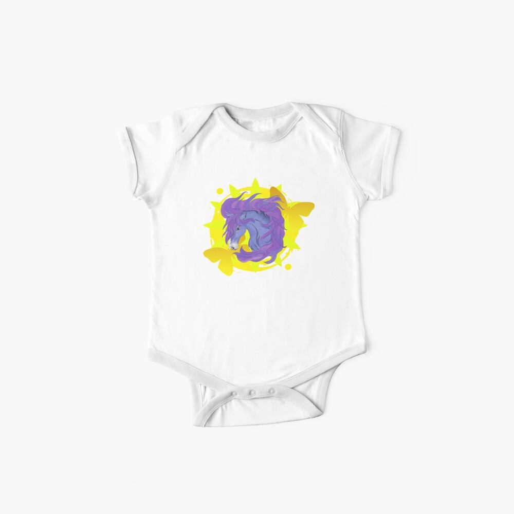 Wild Horse Purple Baby One-Piece