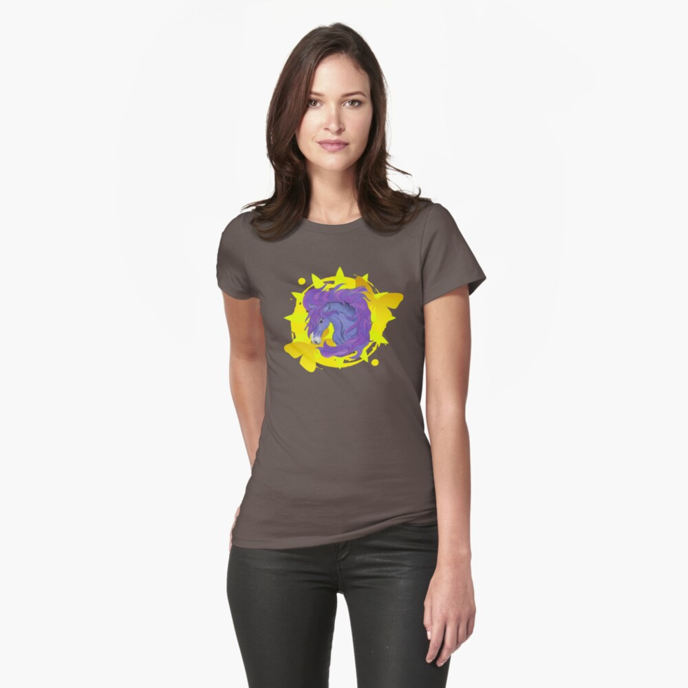 Wild Horse Purple Fitted T-Shirt