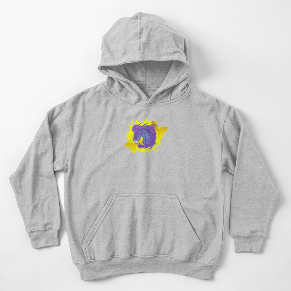 Wild Horse Purple Kids Pullover Hoodie