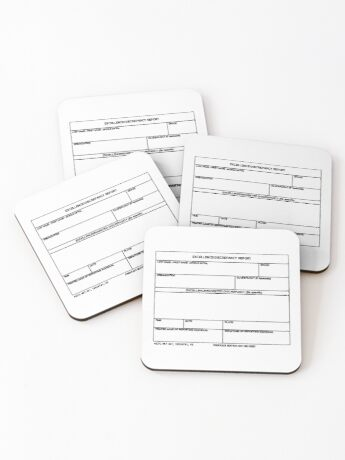 USAF Form 341 - Excellence/Discrepancy Report Coasters