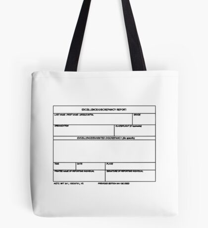 USAF Form 341 - Excellence/Discrepancy Report Tote Bag