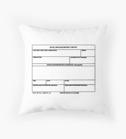 USAF Form 341 - Excellence/Discrepancy Report Throw Pillow