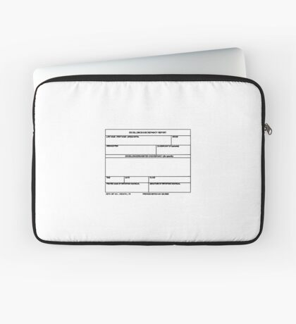 USAF Form 341 - Excellence/Discrepancy Report Laptop Sleeve