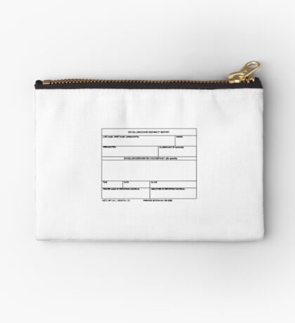 USAF Form 341 - Excellence/Discrepancy Report Zipper Pouch
