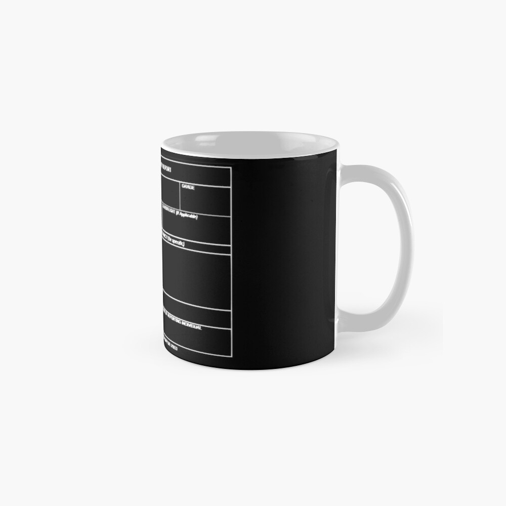 Copy of USAF Form 341 - Excellence/Discrepancy Report Inverted Mug