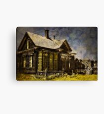 Welcome To Our House Canvas Print