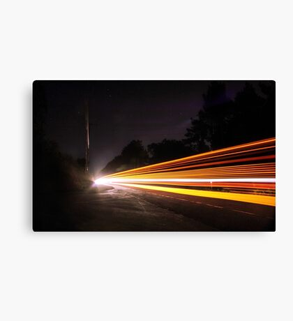 Multi Light Trails  Canvas Print