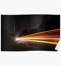 Multi Light Trails  Poster